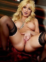 Angela Sommers strips down and shows off her perky breasts